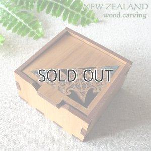 画像1: マオリデザインの木製小箱(MAORI/マオリ)
